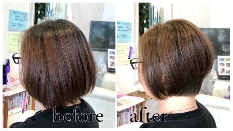 山形県天童市の人気美容室髪修復カラー